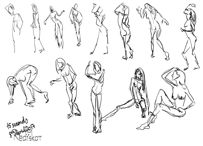 15 second poses